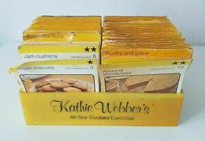 Kathie Webber's Set of Vintage Recipe Cooking Club Cards with Box ~ Used