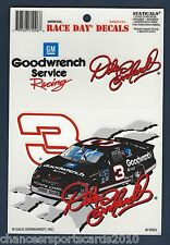 3-PACK DALE EARNHARDT SR RACE DAY WINDOW CLING DECALS NASCAR NEW OLD STOCK