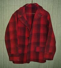 Vintage Classic Buffalo Plaid Red Wool Hunting Jacket