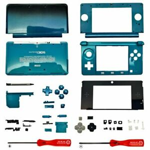 Housing Shell for Nintendo 3DS System Replacement Screen Tools Console Aqua Blue