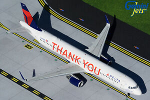 Delta Airbus A321 N391DN Thank You Gemini Jets G2DAL925 Scale 1:200 IN STOCK