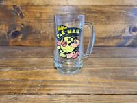Vintage Pac Man Ghosts Arcade Mug Glass Cup Beer Stein Bally Midway 1982 Pac-man