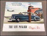 1946 Packard Clipper Six Car Sales Brochure Folder