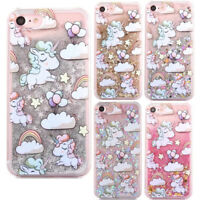 Unicorn Glitter Quicksand Hard Phone Case Cover F iPhone X 5 6 7 8 Plus Samsung