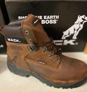 Mack Boots,Bulldog Safety Boot,  Dark Brown (Rocky)