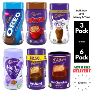 Cadbury Instant Hot Chocolate Milkshake Powder. Oreo Wispa Highlights - 6 Pack