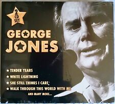 George Jones Country Legend And Top 10 Country Hits 2 CD Set