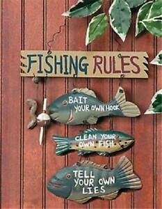 Wood and Metal  Fishing Rules Sign