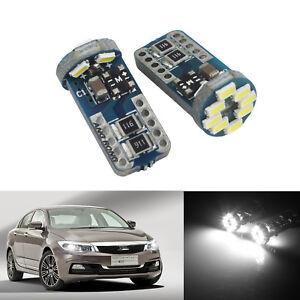 2x Veilleuses LED W5W T10 Canbus 12 SMD voiture moto ANTI ERREUR XENON Ampoules