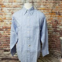 BROOKS BROTHERS PLAID ALL IRISH LINEN TRADITIONAL FIT CASUAL SHIRT SIZE M A74-30