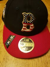 BOSTON RED SOX MLB New Era 59FIFTY STAR & STRIPES Baseball Hat Fitted 7 1/4