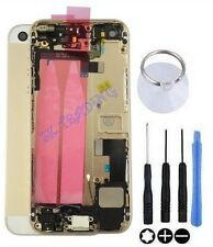 COQUE CHASSIS ARRIERE ASSEMBLE COMPLET POUR IPHONE 5S OR CHAMPAGNE GOLD ORIGINAL