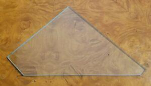 Curio Cabinet Glass Shelf Glass ONLY Triangular Shape