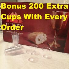 Communion Cups Disposable Unbreakable Box of 1000 plus 200 extra FREE Delivery