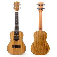 Kmise Zebrawood Concert Ukulele 23 inch Hawaii Guitar With Aquila Strings
