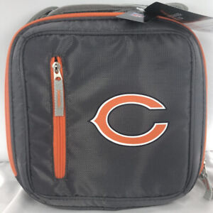 Chicago Bears 12 Can Gray Messenger Lunch Cooler Bag Box Coleman NEW With Tags