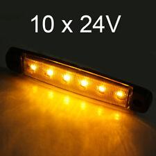 10 x 6 LED 24V Luces de Posición Laterales Luz Esbozado Camión Naranja