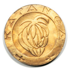 Katanga Bananas within Circle 1 Franc 1961  Uncirculated Bronze- KM1