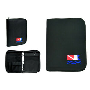 Log Book Binder Scuba Diving Black with Dive Flag (log Pages FREE) LB0201