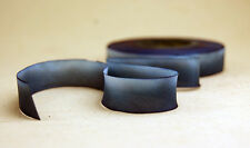 "15mm Earth Silk Bias Cut Hand Dyed Ribbon 5/8"" blend 086 blue navy wash"