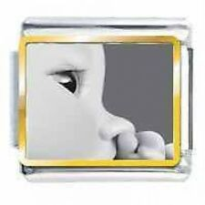 BABY FACE Pic Daisy Charm by JSC Fits Classic Size Italian Charms Bracelet