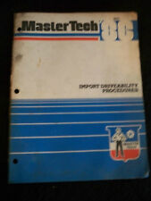 Chrysler Master Tech 1986 Import Driveability Procedures Service Bulletin Manual