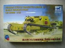 BRONCO 1/35 ITALIAN CV3/33 TANKETTE (SERIE II) EARLY PRODUCTION