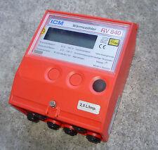 WSG Wärmezähler ICM RV 840 2,5L /Imp. Temperaturfühler PT 100 DIN IEC 751 Wasser