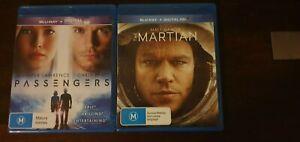 Blu ray Movies Passengers + The Martian