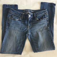 American Eagle Size 6 Women's Jeans Blue Denim Skinny Stretch