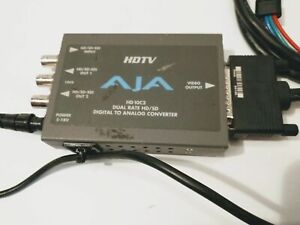 AJA HDTV HD10C2 DUAL RATE HD/SD DIGITAL TO ANALOG CONVERTER+POWER SUPPLY & CABLE