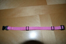 Pink CollarSafe Soft Nylon Puppy Id Snap Buckle Collars, Litter Bands, Straps