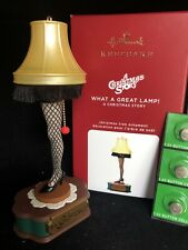 WHAT A GREAT LAMP A CHRISTMAS STORY 2020 Hallmark LIGHTED Ornament leg lamp
