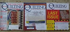 McCall's Quilting 3 of 6 issues from 2010 Beautiful Patterns for your Home