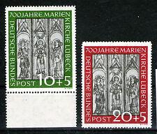 germany federal republic 1951 mnh Marienchirken good set SC# B316-17