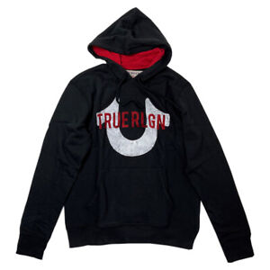 New Mens True Religion 102772 Pull Over Hooded Top Hoodie 2XL