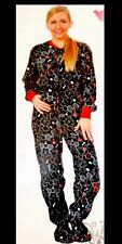 Classic Disney Mickey Mouse Tattoo Footed Pajamas L or XL NEW LAST ONE HTF GIFT
