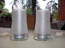 2x Ikea B9919 Glas weiß mit Gittereinsatz - Tischlampe Nachttischlampe Leuchte