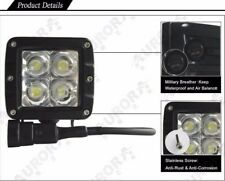 Pair of Aurora 2 Inch LED Working Light Bar/Cube Off Road Flood 20W 2200 Lumens
