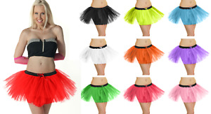 Ladies Girls 3 LAYERS HIGH QUALITY TUTU SKIRT Halloween Fancy Dress Hen Party UK
