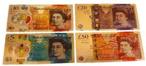 3D Assorted Metallic UK Souvenir Fridge Magnet Money £5 £10 £20 £50 £ Currency