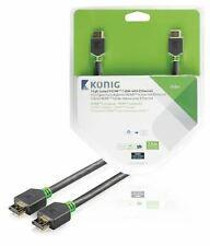 Konig High Speed HDMI Cable with Ethernet HDMI to HDMI Connector 7.5m grey