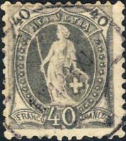 SUISSE / SWITZERLAND / SCHWEIZ - Mi.61 40c grey p.11-3/4x11-1/4 (11-1/2x11)