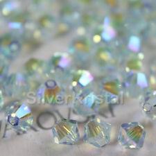 48 pieces Swarovski Crystal 5328 3mm Xilion Bicone Beads LIGHT AZORE AB2X