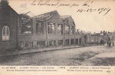GUERRE 14-18 WW1 SOMME ALBERT les usines rochet schneider BRITSH SUB écrite 1914