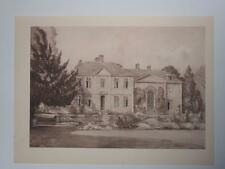 Print Heale House Woodford Wiltshire by HS Merritt 1947