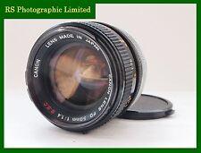 Canon Lens FD 50mm F1.4 S.S.C Prime Lens. Stock no u7292