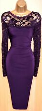 EXQUISITE PHASE EIGHT PURPLE RHONA LACE COCKTAIL DRESS UK 10 WEDDING OCCASION