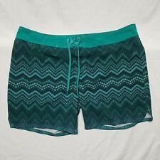 New listing prAna Makenna 36 Board Shorts Women's XL Swim Surf SUP Paddle Green Print
