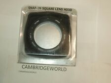 SQUARE SNAP ON 58mm NEW RUBBER LENS HOOD LENS SHADE